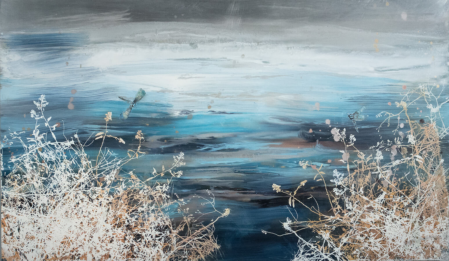 painting, Catskills Pond, by Cara Enteles