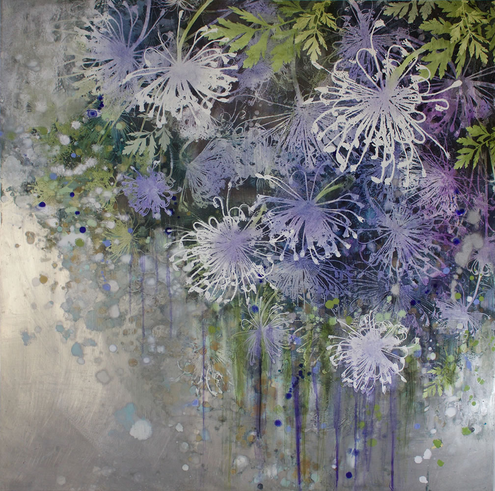 painting, Dill Blossoms 1 by Cara Enteles