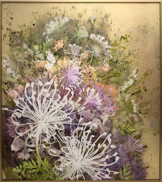 painting, Dill Flowers by Cara Enteles