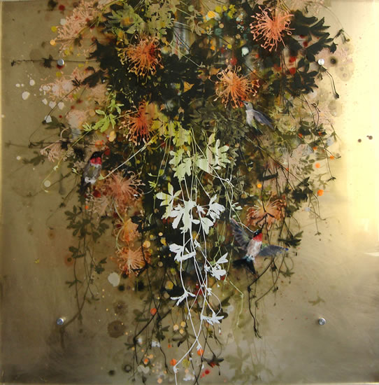 painting, I Can Help You Pollinate  by Cara Enteles