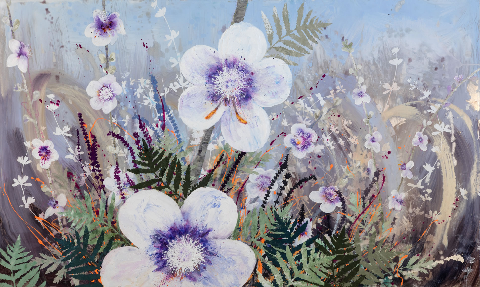 painting, Invasive Beauties 1 by Cara Enteles