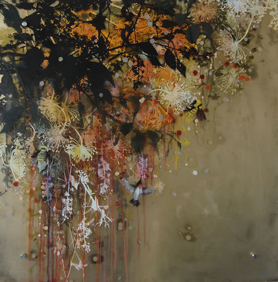 painting,Pollination 10  by Cara Enteles