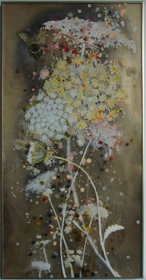 painting,Pollination 18  by Cara Enteles