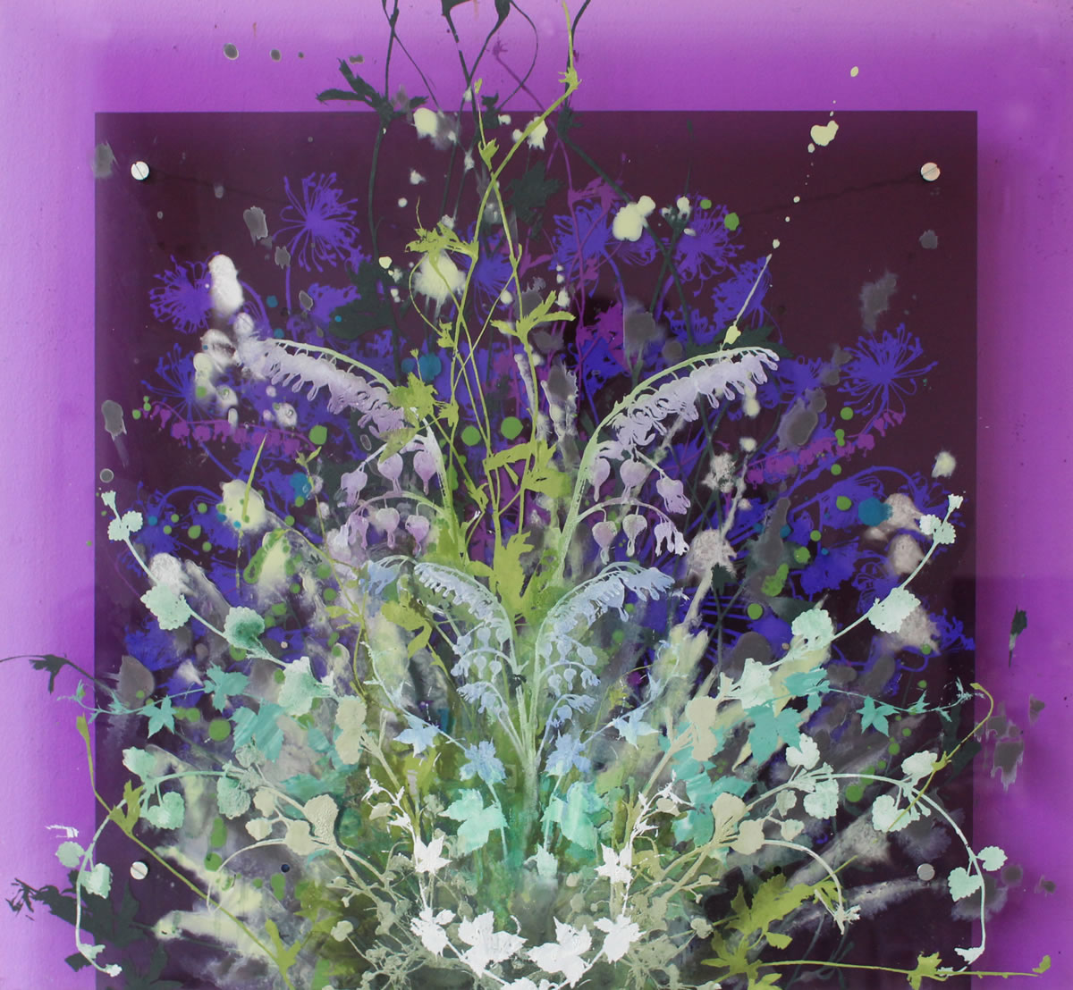 painting, Purple Garden by Cara Enteles